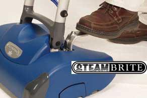 turn on by lowering handle scrubbing machine carpet Prochem encap machine