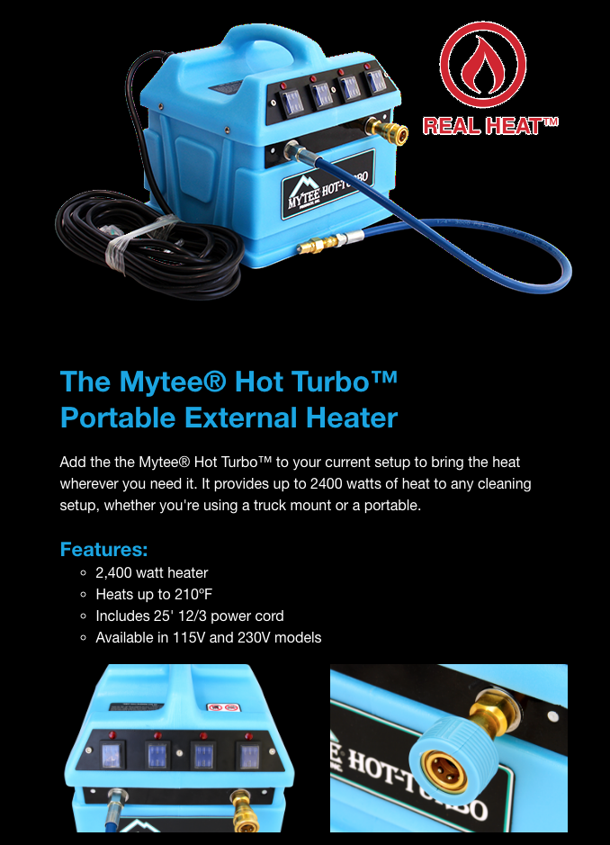 real heat with mytee turbo in line heater