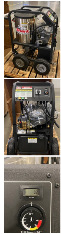 used demo factory trade show hot pressure washer