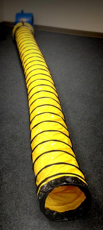 air mover yellow ducting in a storage bag sto and go