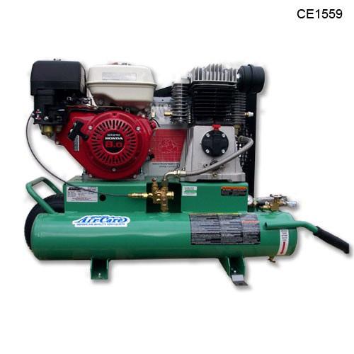 Air care ce1559 portable air compressor 8 hp 90 psi 18 for Honda air compressor motor parts