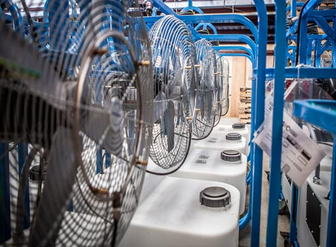 air chiller misting fan production