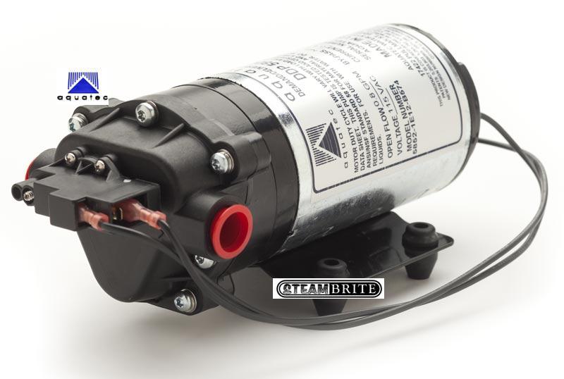 aquatec_pump 58 FLC 220 aquatec 220 psi triplex diaphragm pressure switched bypass pump 115