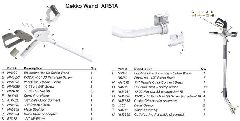 Gekko AR51A tile cleaning wand