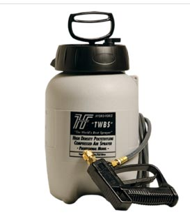 solvent sprayer with 10 ft hose