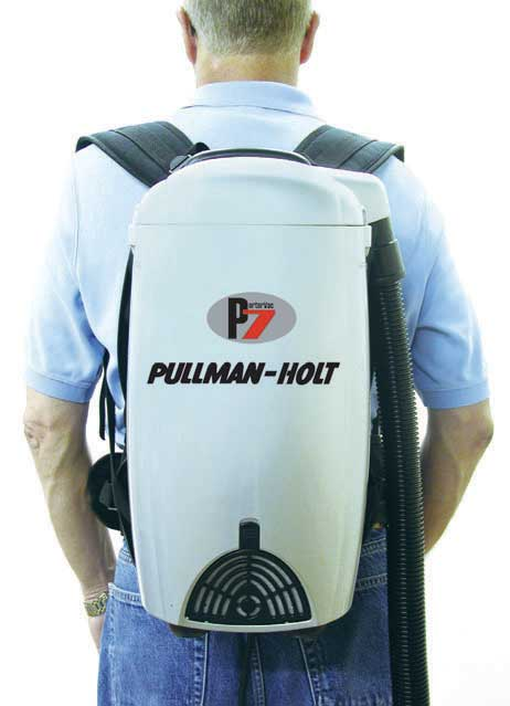 wide sholder straps make this pullman holt back pack vacuum easy to carry