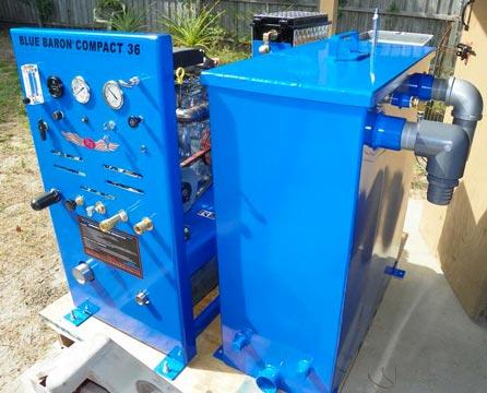 compact 36 blue baron truckmount