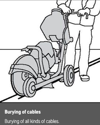 cable burying cutter