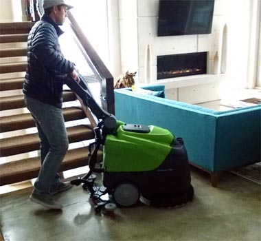 Ipc eagle ct45b50 automatic scrubber 20 with brush agm for Concrete cleaning machine