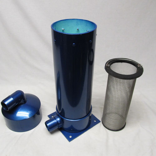 "100% Stainless steel, plastic and aluminum construction for lifetime rust free service. Helps force your employees to filter the lint and carpet fibers from recovered water. Prevents balls of trash on the customers lawn if you dump in the customer's grass Required by all city water sewer processing for waste water disposal for sewer clean out dumping. Keep your auto pump out pumps clean and working properly Large clearance on sides and bottom for good air flow 2"" in and out port. Keeps waste tank vacuum filter cleaner longer. Easy lift out stainless lint basket element. Stainless Steel 'lay out of the way' handle. Heavy duty 1/2"" thick closed cell sponge rubber under the lid for positive seal. Heavy duty metal mounting plate 7-1/2"" X 7-1/2"" Top mount hose connection can point in any direction. Trash enters the top, filtered water leaves the bottom. Can be used with 1-1/2"" hose with optional AH46 expanded hose cuffs.  Can be made with Optional Cool Cuff, Link Cuffs, Flash Cuffs, Snap Cuffs instead of barbed fittings.  We called it Filter Force because we notice that some carpet cleaning employees are lazy and where not taking the needed time to set up their hose mount filtering system.  By bolting to the van floor between your truck mount and live vacuum hose reel, you are ""forcing"" the cleaning tech to use the filter."