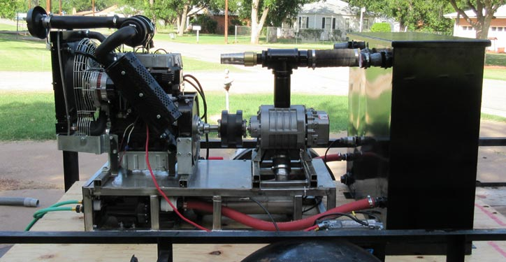 Steambrite Flood Pumper 40hp Diesel Dual Wand Truckmount