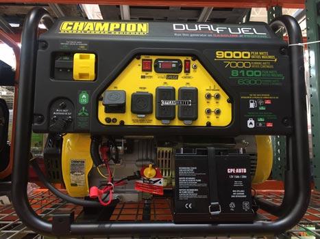 9000 watt dual fuel generator