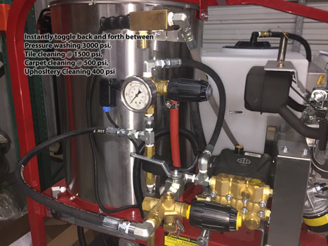 dual pressure washer unloader