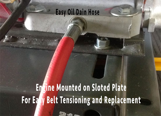 Easy belt change truckmount carpet and tile cleaning machine