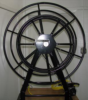 truck mount electric vacuum hose reel