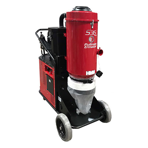 Pullman Ermator S36 Propane dust and slurry hepa vacuum