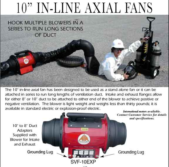 Exploion Proof Inline Blower Fan : Explosion proof axial air mover fan svf exp