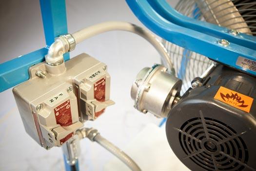 heavy duty misting fan controls