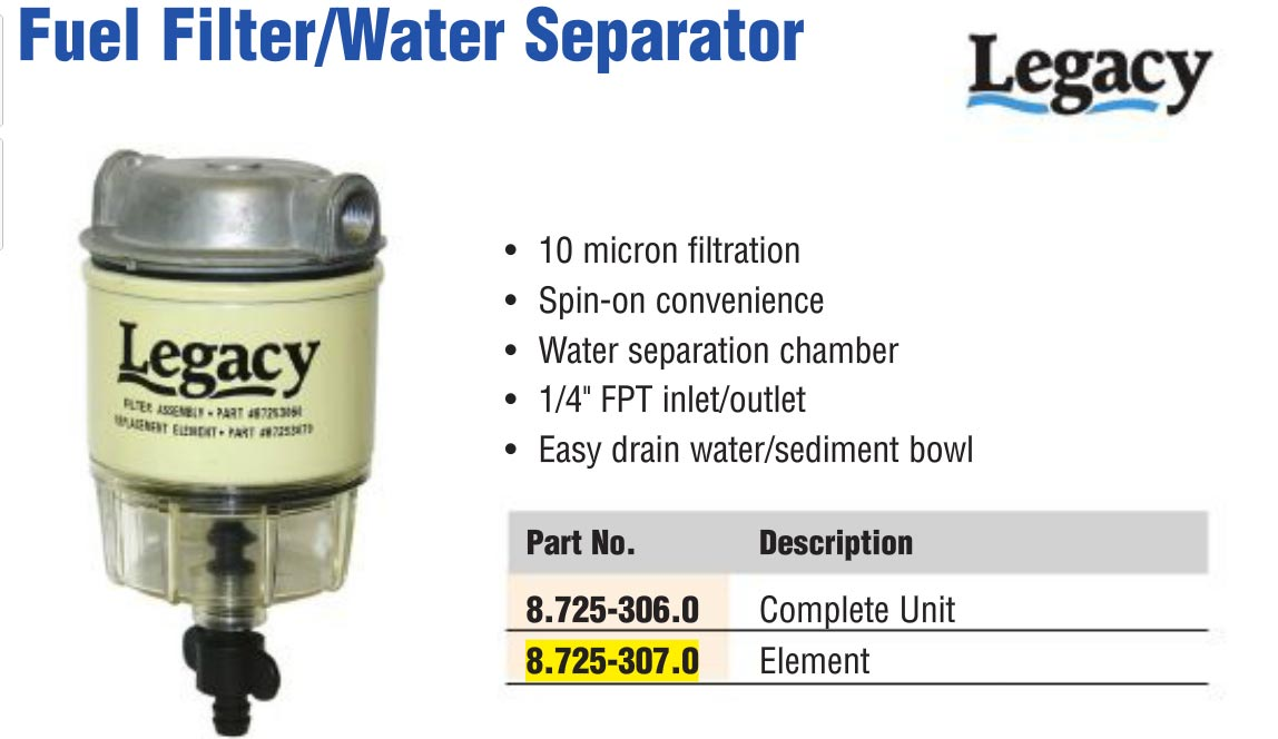 Karcher Fuel Filter Element Only Water Separator