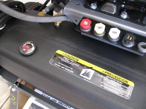 pressure washer fuel tank