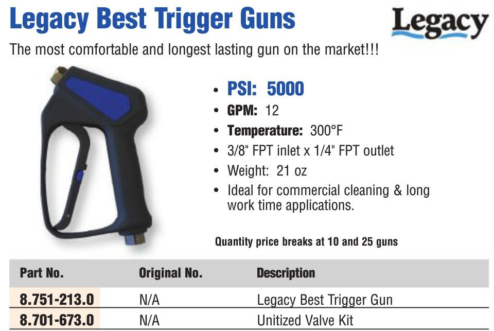 Lagacy best pressure washing trigger gun
