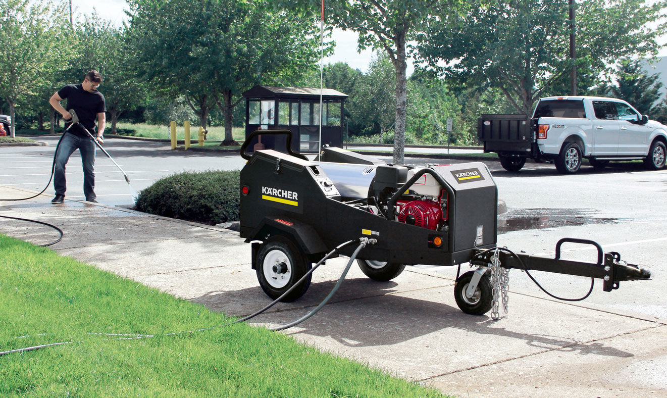 karcher SMT HDS trailer in use
