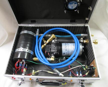 briefcase water heater and pump