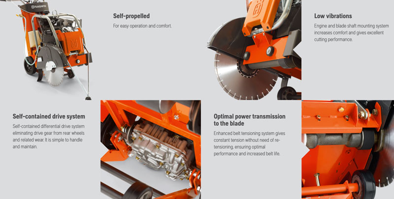 husqvarna 24 inch flat saw FS523 features