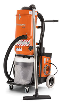 Husqvarna S36 dust collector for concrete grinding