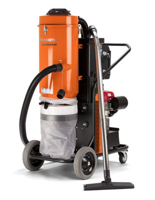 Husqvarna S36 Propane dust and slurry hepa vacuum
