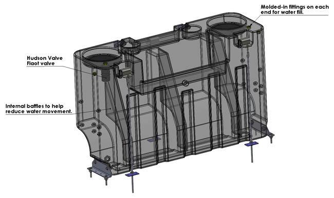 Hydroforce Ax139 Hydro Well 100 Gallon Fresh Water Tank