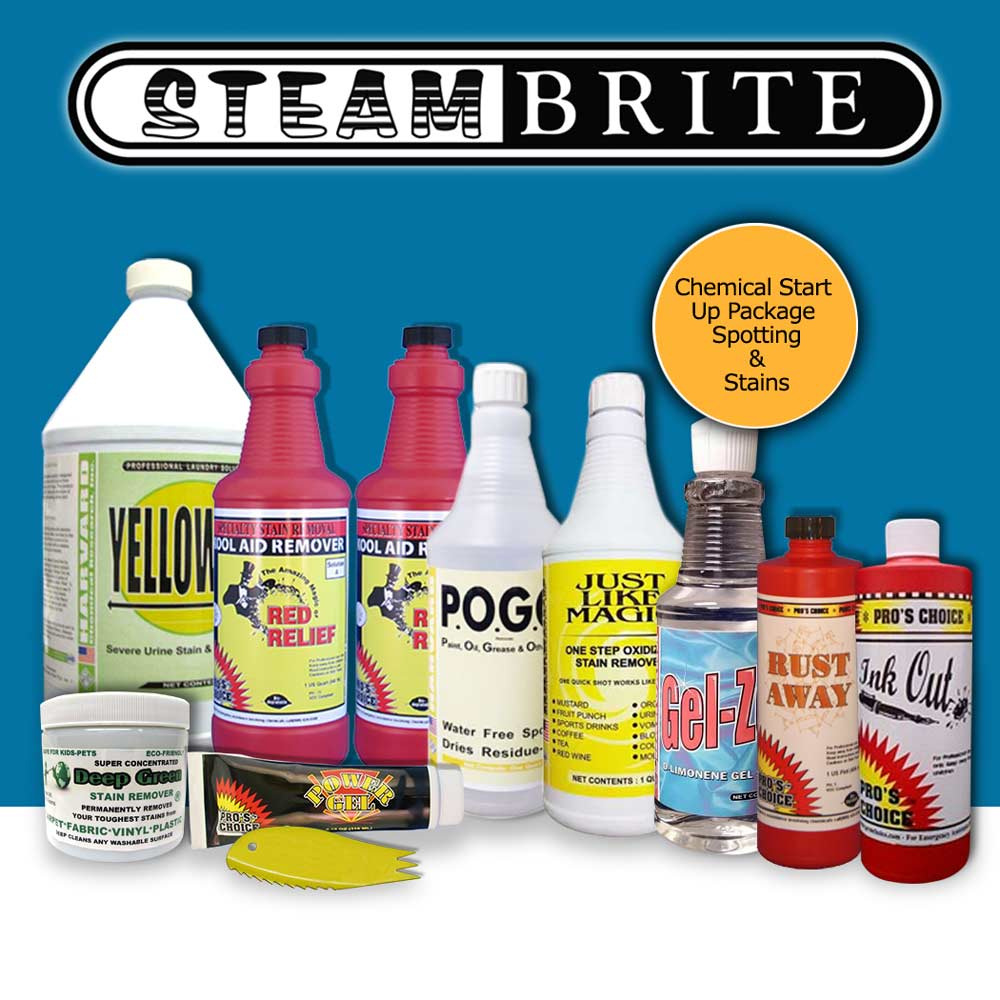 Shazaam Chemical Start Up Package for Stains and Spotting Starter Kit