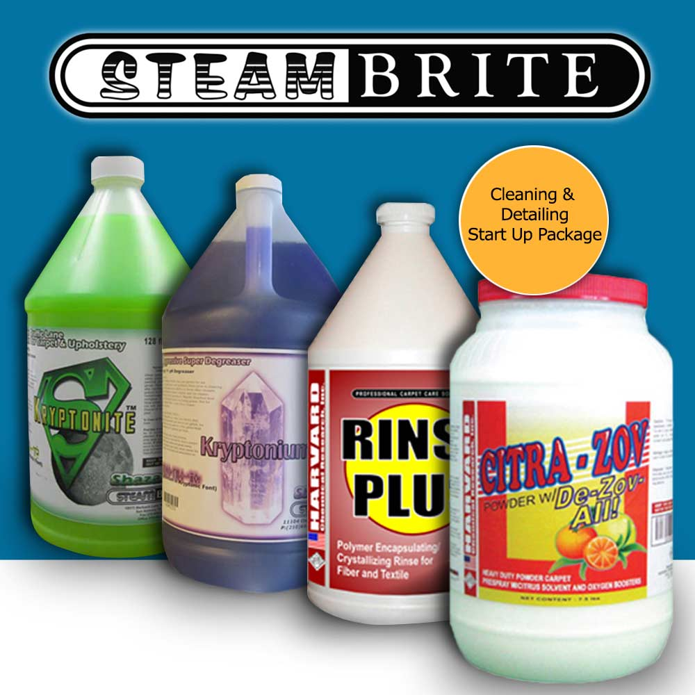 Shazaam: Carpet Cleaning Auto Detailing Start Up Chemical Package Starter Pak