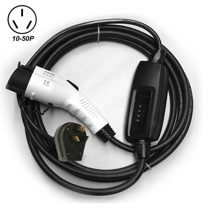 Electric Vehicle Charger Evse 220-240v Level 2 Car Nema 10