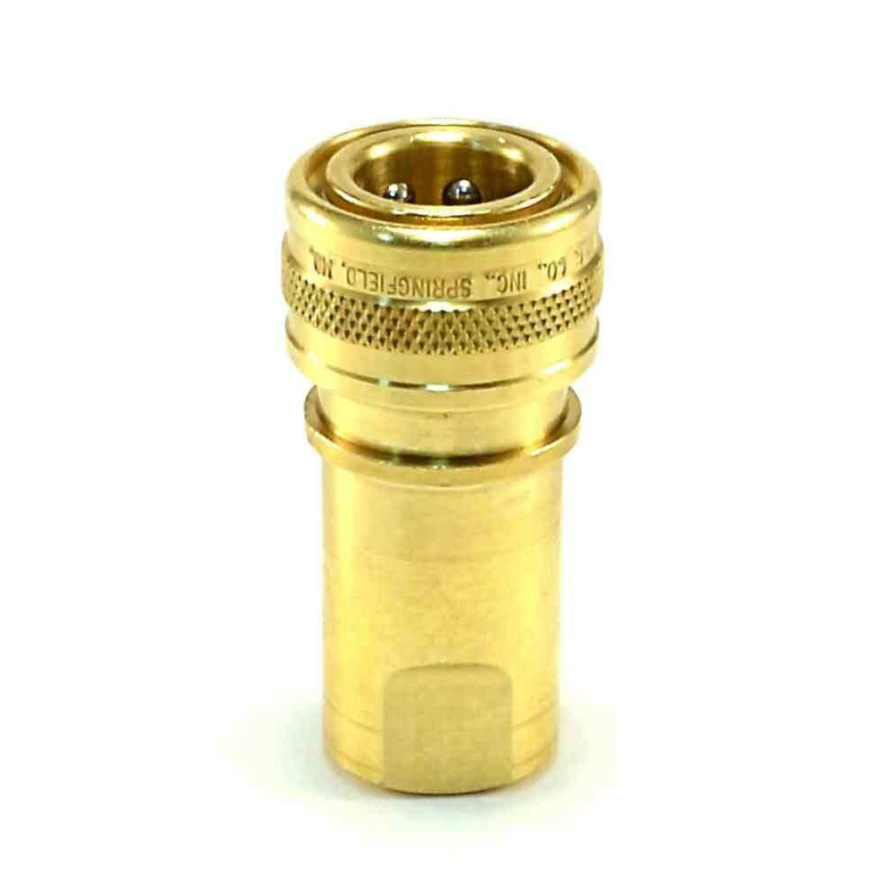 Foster QD 1/4in Female Brass Quick Disconnect Mytee B102  25-001  FH2B  8.697-350.0 Socket Coupler