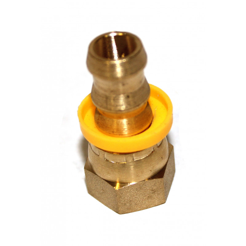 Jic brass swivel push lock fitting