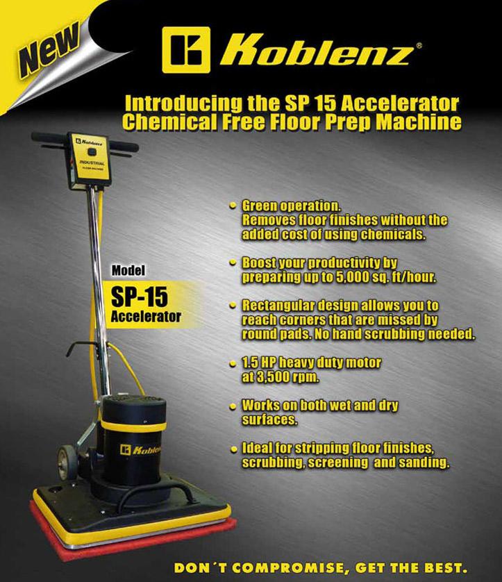koblenz sp15 wax removal machine