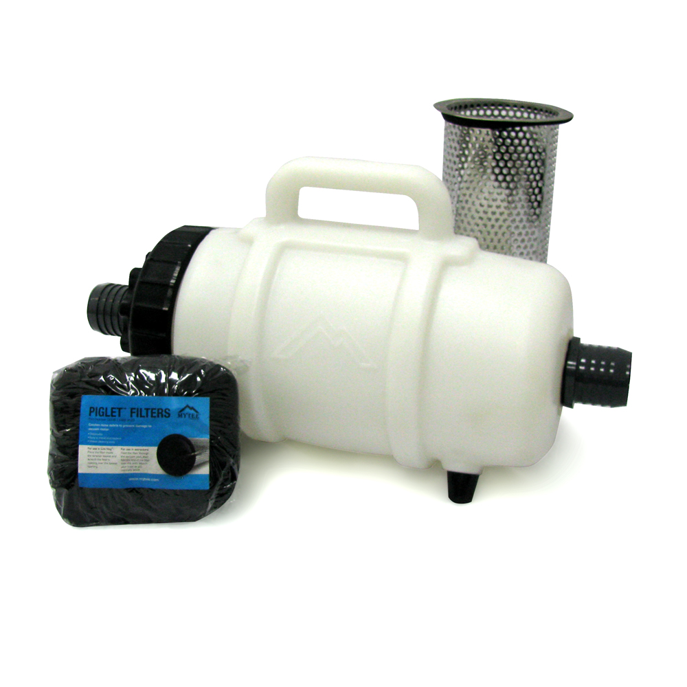Mytee F200B Lint Hog Hose Mount Lint Filter with 2 inch barbed inlet for vacuum hose