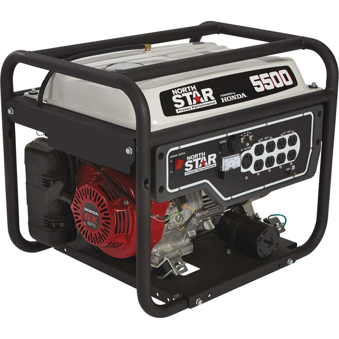 NorthStar 165601 Generator 5500 Surge Watts, 4500 Rated Watts, EPA Phase 3/CARB-Compliant
