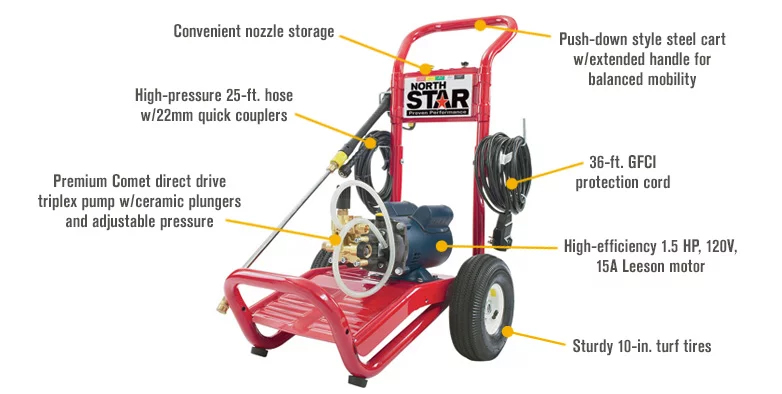 Northstar 1573001 Electric Cold Water Pressure Washer - 1700