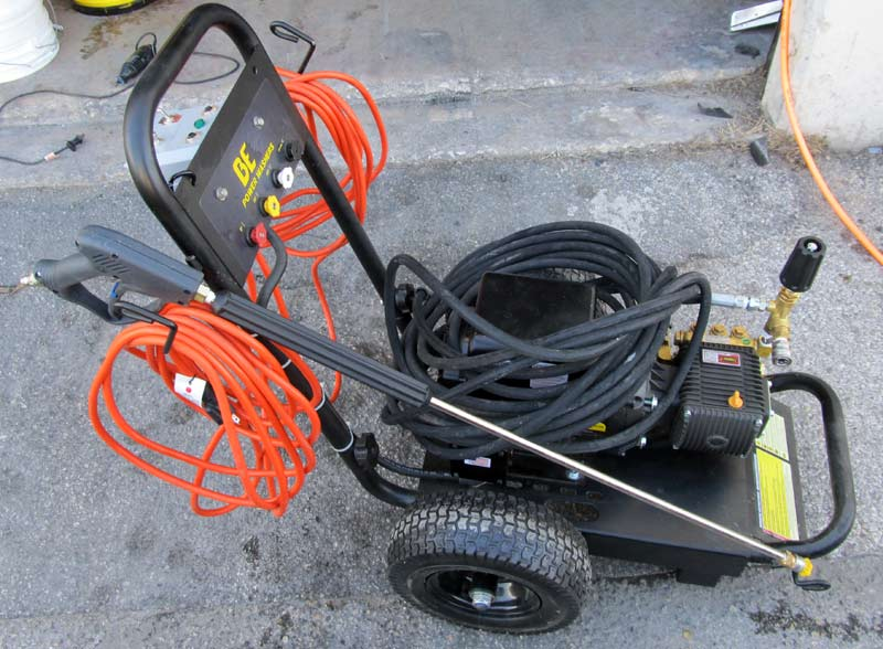 industrial cold pressure washer electric