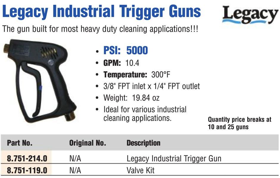 industrial pressure washer trigger gun