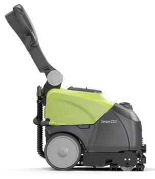 compact auto scrubber for floors and carpet
