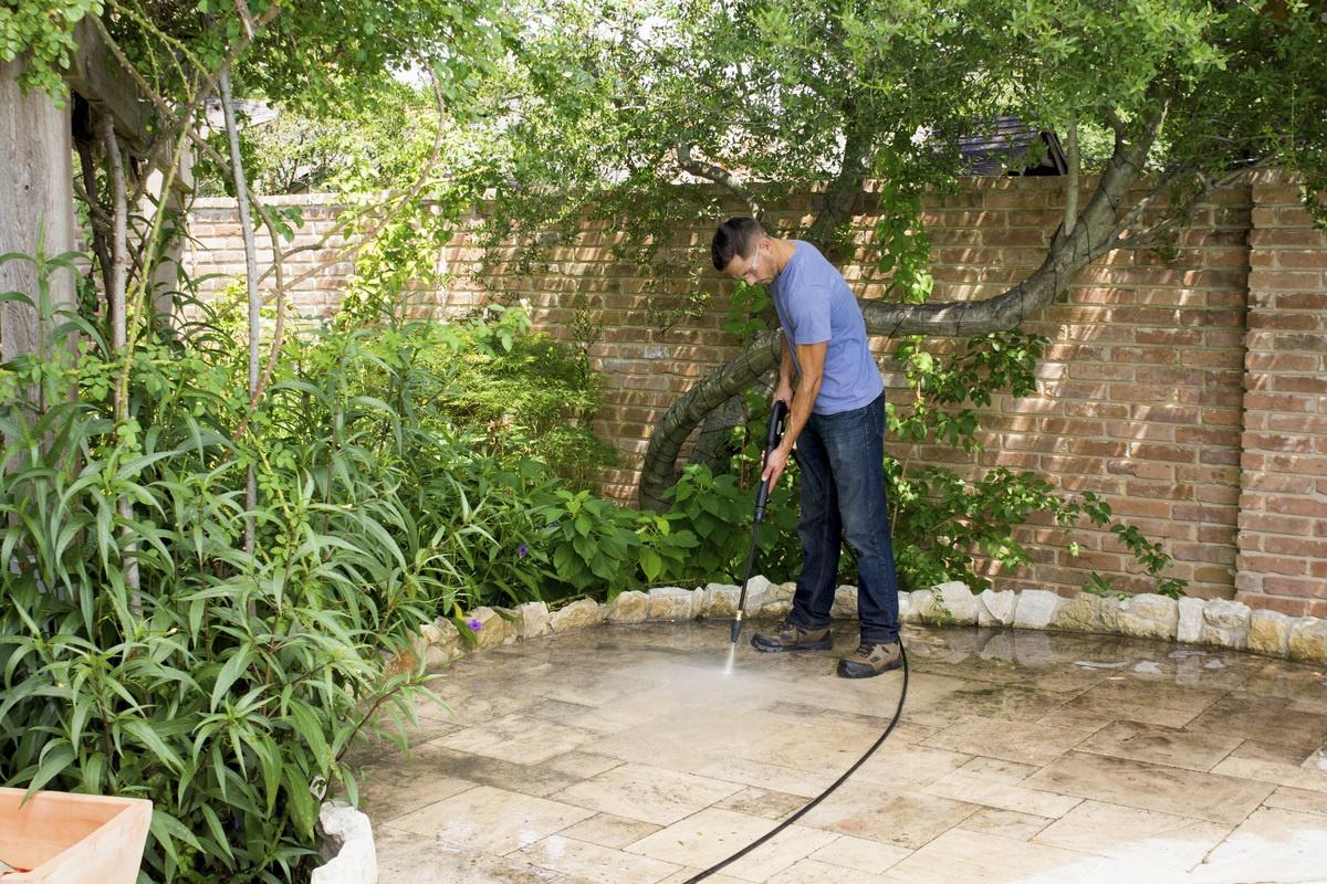back patio power wash spray
