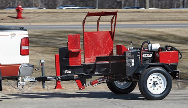 log splitter towable