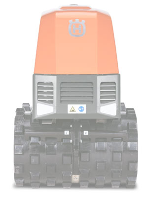 Double drum remote contoled soil compactor