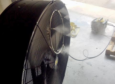 1000 psi misting mister system