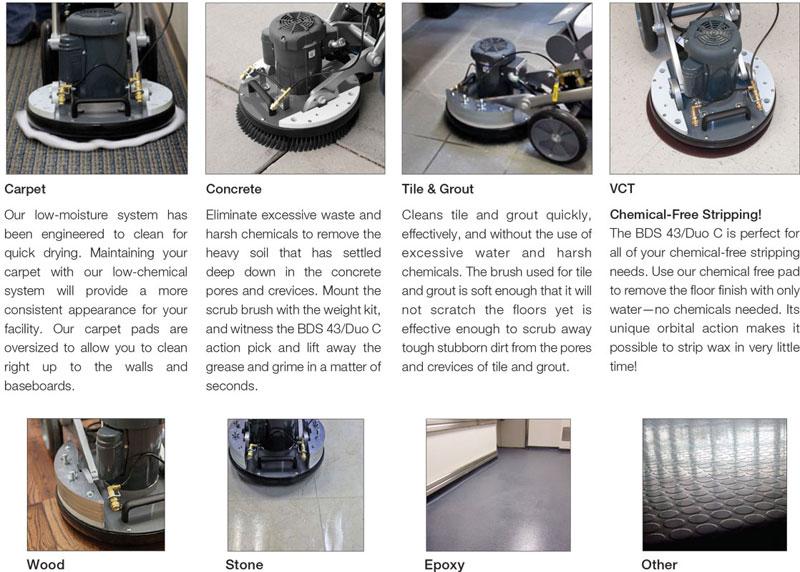 multi-use weighted floor machine