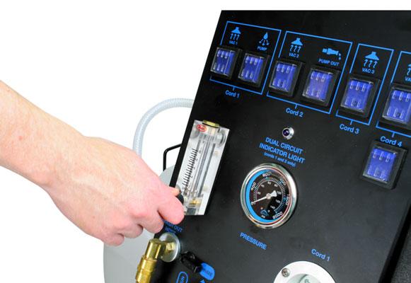 Mytee etm-lx-plus truckmount quad 6.6 control panel