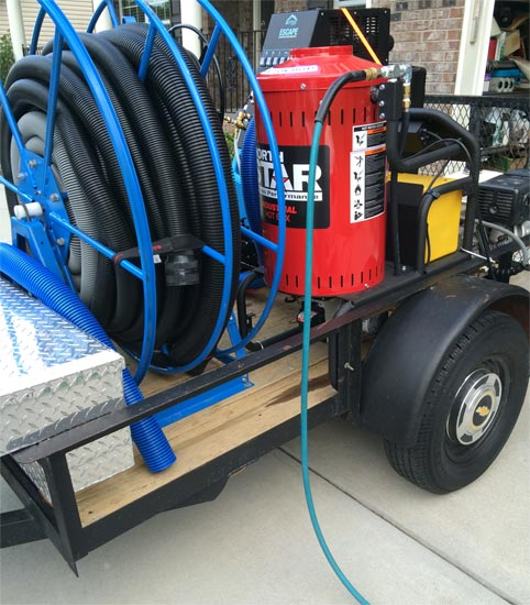 mounted carpet cleaning machine